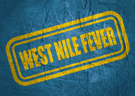 Stamp with West Nile Fever text over concrete textured background. Medical science relative theme