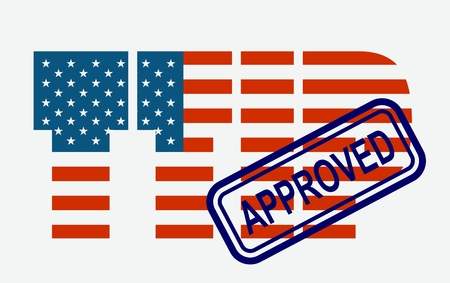 harmonization: TTIP - Transatlantic Trade and Investment Partnership. Europe and USA association. Approved stamp