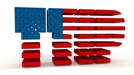 harmonization: TTIP - Transatlantic Trade and Investment Partnership. Europe and USA association. 3d rendering Stock Photo