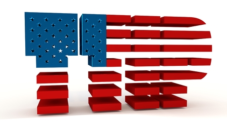 TTIP - Transatlantic Trade and Investment Partnership. Europe and USA association. 3d rendering Stock Photo