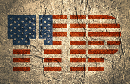 harmonization: TTIP - Transatlantic Trade and Investment Partnership. Europe and USA association. Textured by concrete