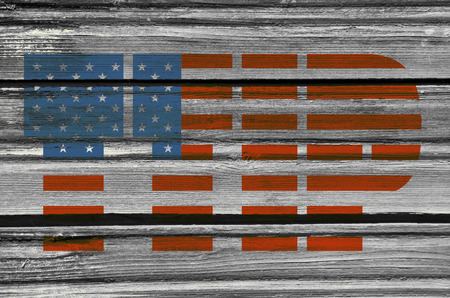 harmonization: TTIP - Transatlantic Trade and Investment Partnership. Europe and USA association. Textured by wood