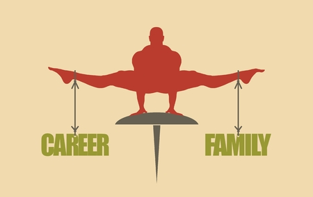 equal opportunity: Balance between career and family. Concept image