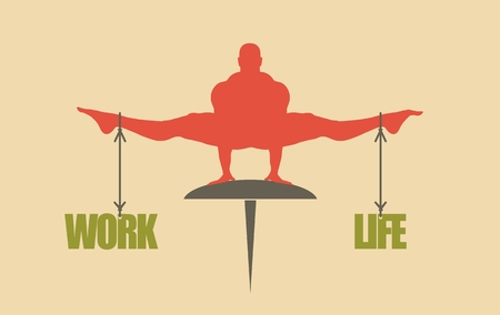 equal opportunity: Balance between work and life. Concept image