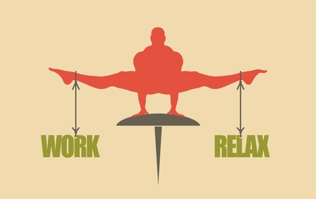equal opportunity: Balance between work and relax. Concept image