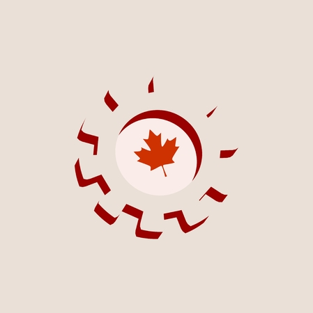 precision: 3D cog wheel with Canada flag. Precision machinery relative backdrop Illustration