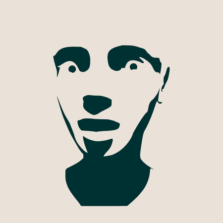 terrified: Human emotions expression vector illustration. Isolated avatar of the expressions face. Emotional head illustration. Terrified person