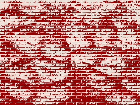bass relief: Relief stone surface texture. Old concrete wall. Monochrome image. Grunge distress texture. Vector template. Brick wall Illustration