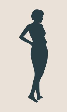 Sexy women silhouette. Fashion mannequin