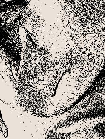 Contexte de superposition de détresse. Élément de design vide rétro. Texture de fibre grunge. Texture granuleuse de tissu de tissage.