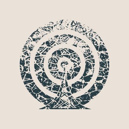 Wi Fi Symbol icon. Mobile gadgets technology relative image. Grunge style vector illustration Illustration