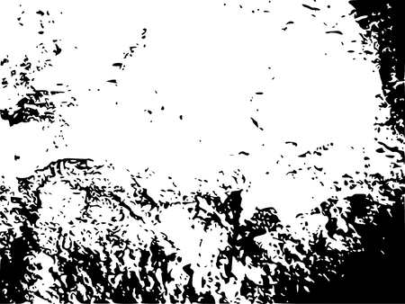 Relief stone surface texture. Old concrete wall. Monochrome image. Grunge distress texture. Vector template. Illustration
