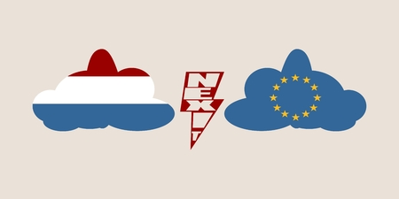 Image relative to politic situation between Netherlands and European Union. Politic process named as Nexit