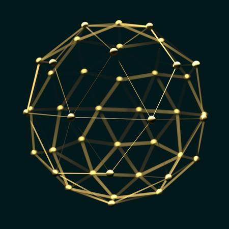 分子とコミュニケーションの背景。パンフレットや web バナー デザイン。線と球。医療、技術、化学、科学相対。フィールドの浅い深さ。3 D レンダ 写真素材