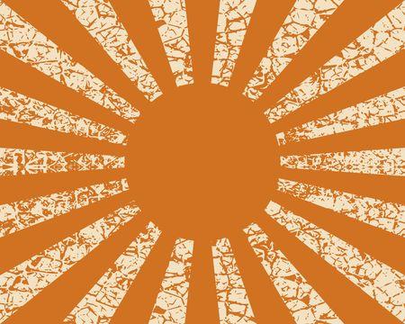 Stralende, convergerende lijnen, stralen achtergrond. Bekend als sterburst, zonnestraalachtergrond. Vector illustratie. Grunge gebarsten textuur