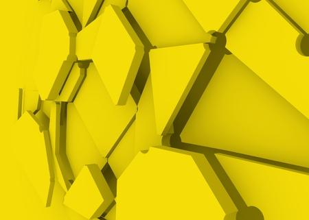 Design brochures with polygonal colorful background. 3D rendering. Splattered polygones Stock Photo
