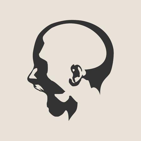 calavera caricatura: Las emociones humanas ilustración del vector de expresión. avatar aislada de la cara expresiones. ilustración cabeza emocional. Grito de la desesperación