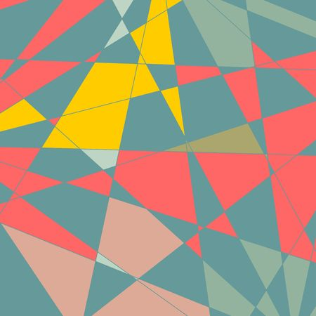 Low poly design template. Polygonal mosaic background Illustration