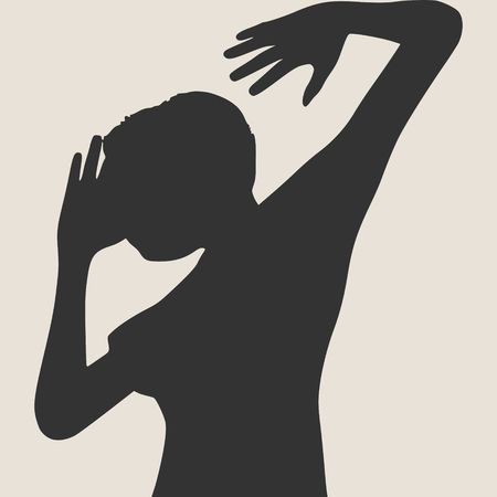 Silhouette of a dancing girl. women silhouette. Vector Illustration