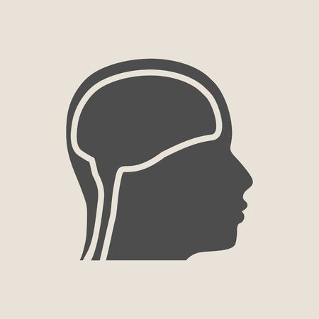 Silhouette of a mans head Illustration