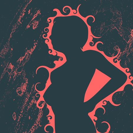 Woman silhouette. Fashion mannequin. Vector Illustration.