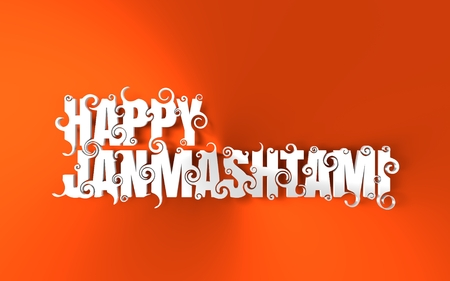 Creative illustration,poster or banner for indian festival of janmashtami celebration. 3D rendering