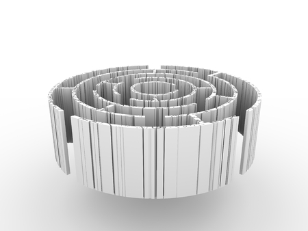 Background of weathered and rusted maze. 3D rendering Stock fotó