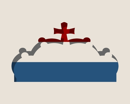 Stylized illustration of the imperial state crown. Flag of the Netherlands. Illustration