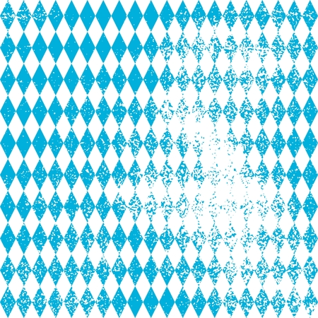 Oktoberfest bavarian traditional blue and rhombus background pattern