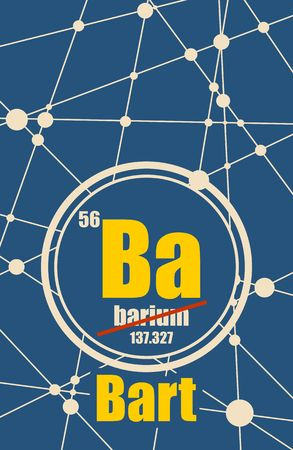barium: Bart common male first name instead chemical element Barium Illustration