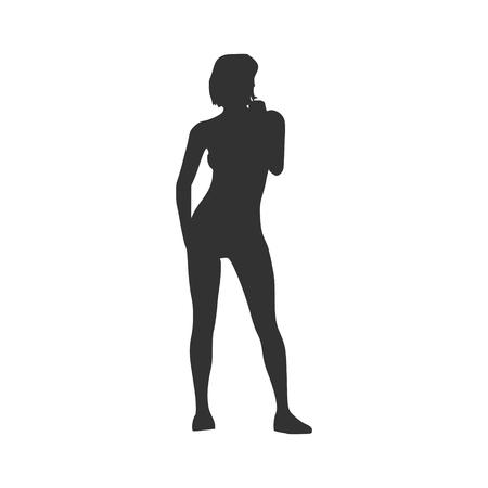 Sexy women silhouette 向量圖像