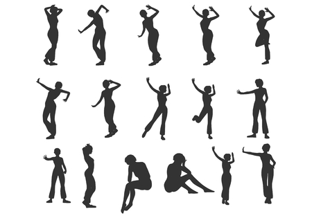 women silhouettes collection. Fashion mannequin. Vector Illustration 向量圖像