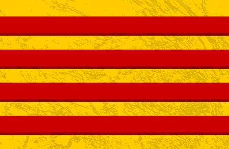 Grunge distress texture of Red and yellow stripes Illustration