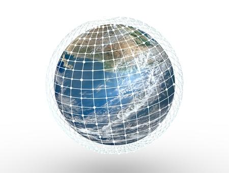 3D image of planet Earth. 3d rendering Foto de archivo