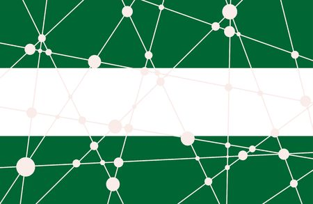 Vlag van de Rotterdam. Laag poly concept driehoekige stijl. Molecuul En Communicatie Achtergrond. Verbonden lijnen met stippen.