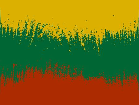 Lithuania flag design concept. Flag textured by grungy wood pattern. Image relative to travel and politic themes