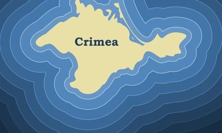 Crimea simple map illustration. 일러스트