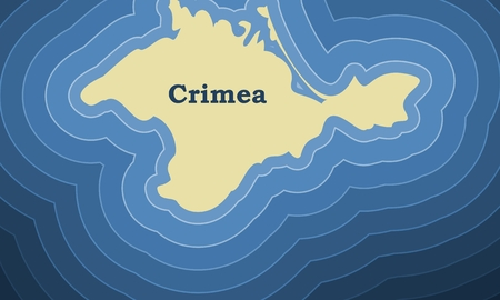 Crimea simple map illustration. Ilustração