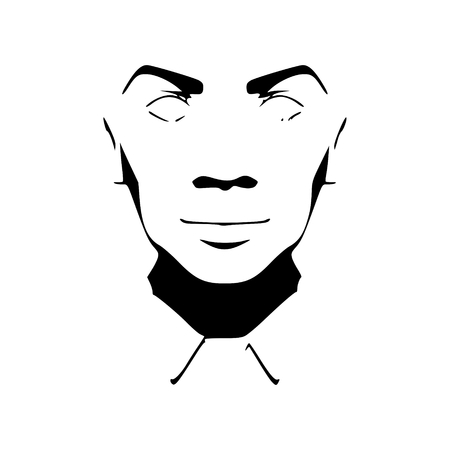 Face front view silhouette