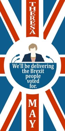 United Kingdom leader icon. Vettoriali