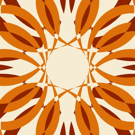 Abstract Radial curved rays Illustration