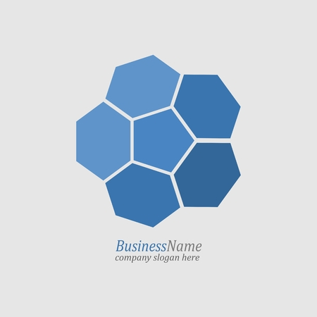 Hexagon Geometric Shape With Minimal Abstract Emblem Template ...