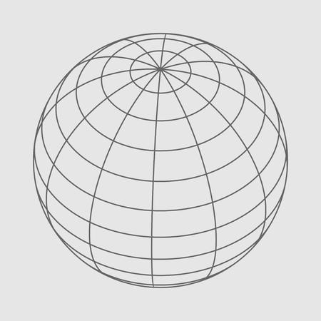 Wire frame style design platonic solid design earth globe. Illustration