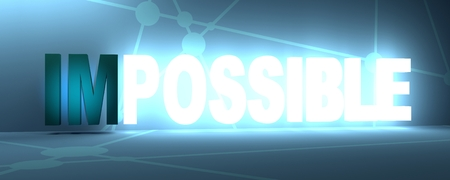 Making the impossible possible concept on abstract background. Molecule and communication backdrop. 3D rendering