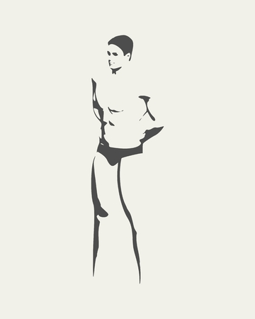 Muscular man illustration