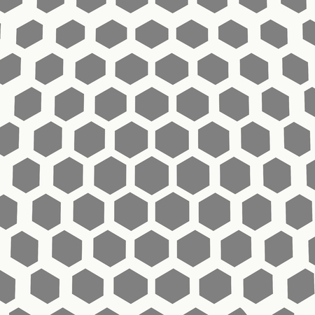 Perspective view on honeycomb. Hexagon pattern background. Isometric geometry Ilustrace