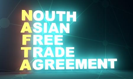 Acronym Nafta North Asia Free Trade Agreement Business Conceptual