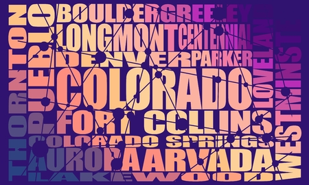 Image relative to USA travel. Colorado state cities list