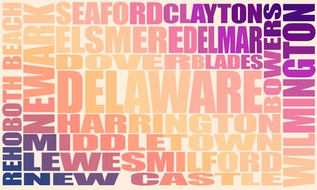 Image relative to usa travel. Delaware state cities list 写真素材 - 112374342