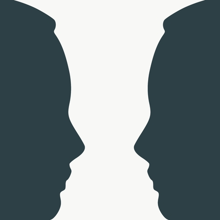 A Vase Or Two Face Profile View Optical Illusion Human Head